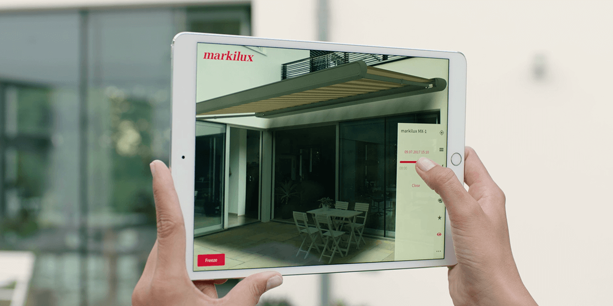 Markilux and ViewAR present the 3D-configurator of the Future